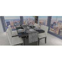 Linge De Table - Cuisine SOLEIL D'OCRE Chemin de table - Galaxy - 40x180 cm - Noir