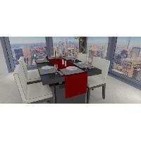 Linge De Table - Cuisine SOLEIL D'OCRE Chemin de table - Galaxy - 40x180 cm - Rouge