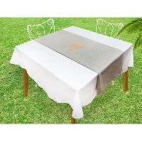 Linge De Table - Cuisine SOLEIL D'OCRE Chemin de table Baguette - 40x140 cm - Gris et or