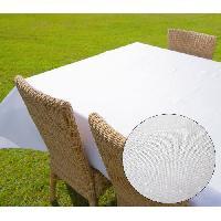 Linge De Table - Cuisine SOLEIL D'OCRE Nappe carre BELLA - 180x180cm - Polyester Blanc