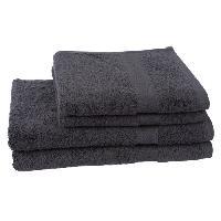 Linge De Toilette 2 serviettes + 2 draps de bain 70x140cm Elegance - Anthracite
