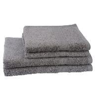 Linge De Toilette 2 serviettes + 2 draps de bain Elegance - Gris