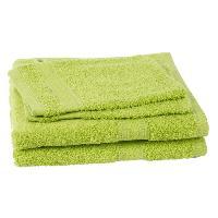 Linge De Toilette 2 serviettes + 2 gants de toilette Elegance - Vert