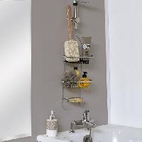 Linge De Toilette Eponge de bain Ramie avec manche en bois - H41 x l10 x P4 cm - Naturel - Aucune