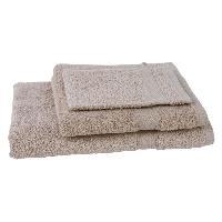 Linge De Toilette JULES CLARYSSE Lot de 1 serviette + 1 drap de bain + 1 gant de toilette Elegance - Sable