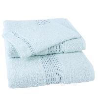 Linge De Toilette JULES CLARYSSE Lot de 1 serviette + 1 drap de bain + 1 gant de toilette Jasmine - Bleu