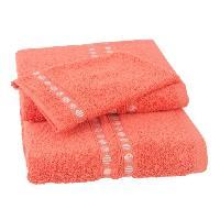 Linge De Toilette JULES CLARYSSE Lot de 1 serviette + 1 drap de bain + 1 gant de toilette Lotus - Terra