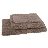 Linge De Toilette JULES CLARYSSE Lot de 1 serviette + 1 drap de bain + 1 gant de toilette Royale - Chocolat