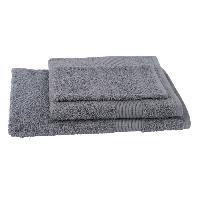 Linge De Toilette JULES CLARYSSE Lot de 1 serviette + 1 drap de bain + 1 gant de toilette Viva - Gris