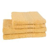Linge De Toilette JULES CLARYSSE Lot de 2 draps de bain + 2 serviettes Royale - Jaune