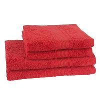 Linge De Toilette JULES CLARYSSE Lot de 2 draps de bain + 2 serviettes Royale - Rouge