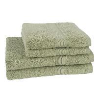 Linge De Toilette JULES CLARYSSE Lot de 2 draps de bain + 2 serviettes Royale - Vert olive