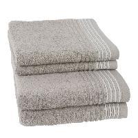 Linge De Toilette JULES CLARYSSE Lot de 2 serviettes + 2 draps de bain Carl - Sable