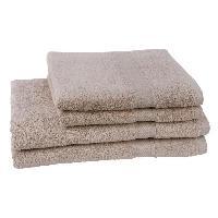 Linge De Toilette JULES CLARYSSE Lot de 2 serviettes + 2 draps de bain Elegance - Sable
