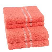 Linge De Toilette JULES CLARYSSE Lot de 2 serviettes + 2 draps de bain Lotus - TERRA