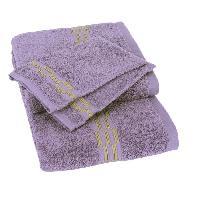 Linge De Toilette Lot de 1 drap 70x140 cm + 1 serviette 50x100 cm + 2 gants 15x21 cm Yeni violet