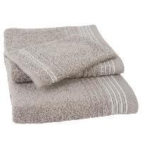 Linge De Toilette Lot de 1 serviette + 1 drap de bain + 1 gant de toilette Carl - Sable