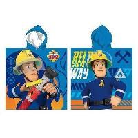 Linge De Toilette SAM LE POMPIER Poncho microfibre 55x110 cm bleu et jaune - Generique