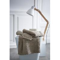 Linge De Toilette TODAY Set de 4 pieces éponge prémium - 100% coton 600gr - Mastic TODAY