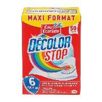 Lingette Anti-decoloration EAU ECARLATE Lingettes anti-decoloration linge Decolor Stop - Lot de 50