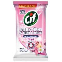 Lingette Nettoyante Lingettes Antibacterien et Brillance - Floral - Pack de 120