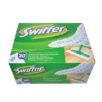 Lingette Nettoyante SWIFFER  lingettes attrappe-poussiere recharge. x20