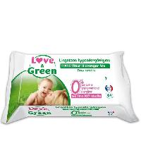 Lingettes Bebe LOVE AND GREEN Lingettes parfumees x64