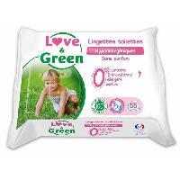 Lingettes Bebe LOVE et GREEN Lingettes Toilettes Proprete x 55