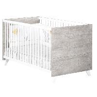 Lit Bebe Babyprice - SCANDI GRIS - Lit Evolutif Little Big Bed 140x70 - Baby Price