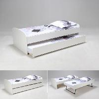 Lit Gigogne SWING Lit gigogne enfant 90 x 190 cm blanc - Contemporain