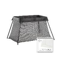 Lit Pliant - Parapluie Lit Parapluie + Drap-housse - Noir
