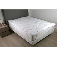 Literie DODO Surmatelas 140 x 190 - Polyester fibre haute technologie - Moelleux - CONTRY