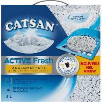 Litiere Minerale - Silice - Argile CATSAN Active Fresh - Litiere - Pour chat - 5 L