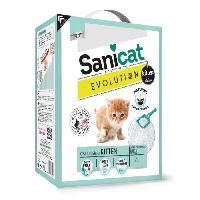 Litiere Minerale - Silice - Argile SANICAT Litiere Evolution Kitten 6L - Pour chaton