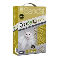 Litiere Minerale - Silice - Argile SANICAT Litiere Gold Ultra Clumping 5L - Pour chat