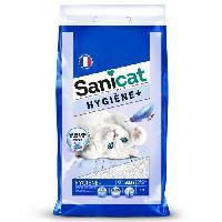 Litiere Minerale - Silice - Argile SANICAT Litiere Hygiene 17l - Pour chat