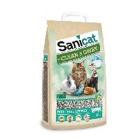 Litiere Minerale - Silice - Argile SANICAT Litiere cellulose compostable et recyclable - Pour chat
