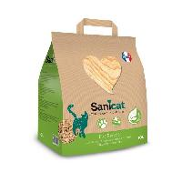 Litiere Minerale - Silice - Argile SANICAT Litiere en bois recycle. compostable et recyclable - Pour chat