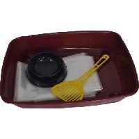 Litiere Minerale - Silice - Argile VITAKRAFT Kit chat propre Ecuelle + Sacs + Pelle a litiere