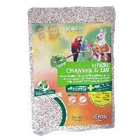 Litiere Vegetale - Fibre - Paille - Chanvre - Copeaux - Cellulose - Mais AIME Litiere - 2.5 kg - 2 mois d'utilisation - Pour rongeurs et oiseaux
