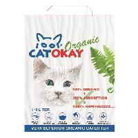 Litiere Vegetale - Fibre - Paille - Chanvre - Copeaux - Cellulose - Mais VADIGRAN Litiere organique CatOkay - 8L - 4.5 kg - Pour chats