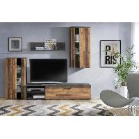 Living - Meuble Tv Mural Complet ARANTUS Ensemble meuble TV - 213 x 184 x 41.3 cm - Aucune