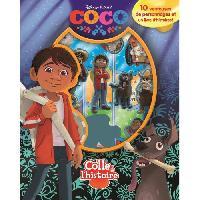 Livre D'eveil - Electronique - Interactif DISNEYPIXAR COCO Plus de 10 figurines a ventouse - Livre cartonne de 10 pages - Editions Phidal