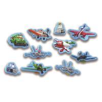 Livre D'eveil - Electronique - Interactif DISNEY PLANES Plus de 10 figurines a ventouse - Livre cartonne de 10 pages - Editions Phidal - Generique