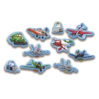 Livre D'eveil - Electronique - Interactif DISNEY PLANES Plus de 10 figurines a ventouse - Livre cartonne de 10 pages - Garcon - 3 ans