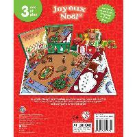 Livre D'eveil - Electronique - Interactif JOYEUX NoeL 12 figurines et un tapis de jeu - Livre cartonne de 10 pages - Mixte - 3 ans