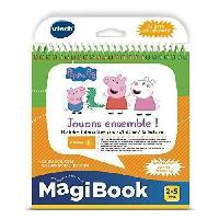 Livre Electronique Enfant - Livre Interactif Enfant VTECH - Livre Interactif Magibook - Peppa Pig. Jouons Ensemble