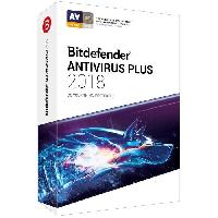 Logiciels BITDEFENDER Antivirus Plus 2018 - 2 ans - 3 PC