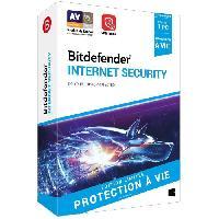 Logiciels Bitdefender Internet Security 2021 - a vie - 1 PC
