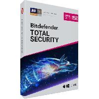 Logiciels Bitdefender Total Security 2019 - 2 ans - 10 appareils